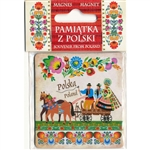 "Wycinanki Folk Magnet - Polish Wedding - Size 2.6"" x 2.75"" - 6.5cm x 7cm"