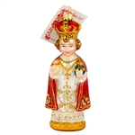 "A beautiful rendition of the Infant Of Prague.  Highly detailed.  Size approx. 5.25"" x 2.25"" x 1.25""."