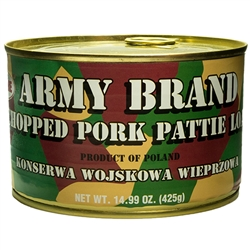 Polish army version of Spam.  Convenient pull top can.,
