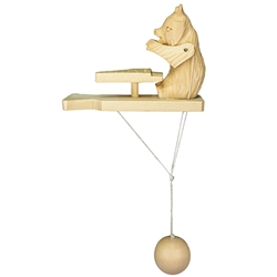 Wooden spin toy from Russia that will bring smiles to all who try it! This bear is a perfect example of an old fashioned action toy. Traditionally hand made by parents and grandparents for their children that's also perfect for displaying around the house