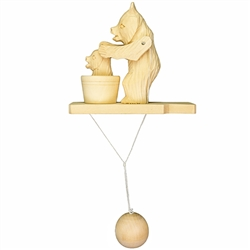 Wooden spin toy from Russia that will bring smiles to all who try it!  These bears are a perfect example of an old fashioned action toy. Traditionally hand made by parents and grandparents for their children that's also perfect for displaying around the