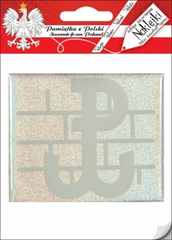 "PW (Polska Walczacja - Fighting Poland) was the symbol of the Polish Home Army which fought its largest battles during the Warsaw Uprising in 1944. This raised flexible plastic car sticker is approx. 3"" x 3.5""."