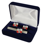 Beautiful Polish Land Forces Cuff Links and Tie Bar Set