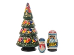If the decorations of Christmas make you feel jolly, you'll want to take a look at this Christmas Tree Nesting Doll.  The tree is adorned with beautifully hand-painted bulbs and tinsel.  Open it up and you will see that Santa Claus is hiding in the tree