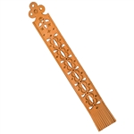 "This is a beautiful hand made leather bookmark made in Zakopane, Poland.  Size approx 10"" x 1.25""  Designs vary slightly."