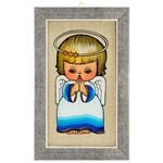 Painting on glass is a popular Polish form of folk art by which the artist paints a picture on the reverse side of a glass surface. This beautiful painting of an angel is the work of artist Ewa Skrzypiec from the town of Nowy Sacz in southeastern Poland.