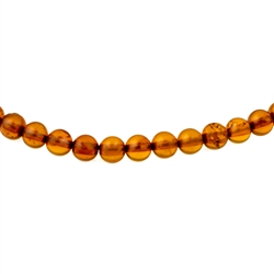Jewelry makers will enjoy these beads to finish your own bracelet. Genuine Baltic Amber.  Approx 135 beads per strand.  3mm diameter beads.