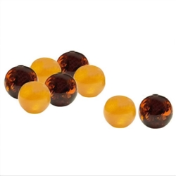 Jewelry makers will enjoy these genuine Baltic amber beads. Hole through each bead. Approx 6mm diameter.