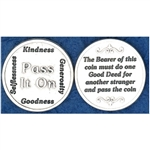 Great for your pocket or coin purse. Add to a gift for that extra special touch! `Pass It On is the Pocket Token (Coin) for everyone!  The Bearer of this coin must do one Good Deed for another stranger and pass the coin.