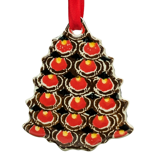 - Polish Art Center - Polish Pottery Stoneware Christmas Tree Ornament