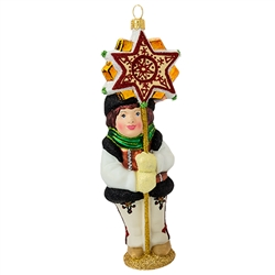 "Display your Polish heritage with this nicely detailed Polish ornament. The young Goral is dressed in a traditional Polish Mountaineer costume. Size approx. 6.5"" x 2"" x 1.5""."