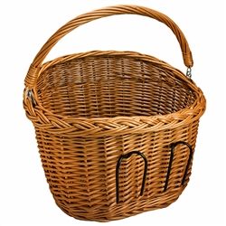 Vintage style, handmade of natural wicker, great for your bike to carry shopping or any other small items. Poland is famous for hand made wicker baskets. This is a tradition in areas of the country where willow grows wild and is very much a village and