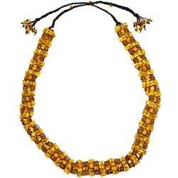 "All natural Baltic amber beads woven into a elegant belt.  Total length is 56"".  Beaded portion is 36"" x 1.5""."