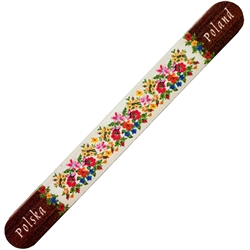 "Practical and inexpensive way to enjoy a little bit of Poland.  Size approx 7"" x .75"".