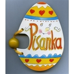 Egg shaped board book for young children. Polish language text all about Polish Easter Eggs.