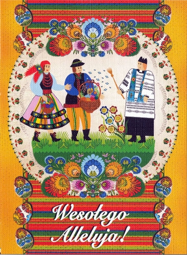 Polish art center polish folk easter card wesolego alleluja alternative views m4hsunfo