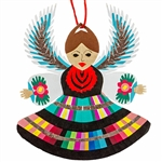 "Our hand made paper cut angel is dressed in a Lowicz costume from central Poland, Two sided and ready to hang. Approx 1ml thick. Size approx 4.5"" x 3.5"". Made in Lowicz, Poland."