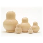 Looking for a fun project? This potbelly doll offers a unique shape for those looking to create their own nesting doll! Draw, paint or wood burn on this do-it-yourself potbellied matryoshka - it is all up to you! We offer top quality unpainted blanks hand