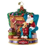 Santa's having a party, and you're invited! He'll be making a list of everything he needs to ensure that this party will be one to remember. Richly detailed and hand-painted, this Christopher Radko ornament shows all the hallmarks of why collectors love