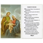 Parent's Prayer - Holy Card.  Holy Card Plastic Coated. Picture is on the front with a Parent's Prayer, text is on the back of the card.