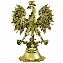 Cast bronze double sided Polish Eagle.  Display your Polish heritage with this classic cast piece.