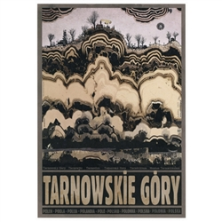 "Tarnowskie Góry, Polish Promotion Poster designed by artist Ryszard Kaja. It has now been turned into a post card size 4.75"" x 6.75"" - 12cm x 17cm."