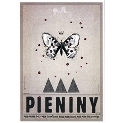 "Pieniny, Polish Promotion Poster designed by artist Ryszard Kaja. It has now been turned into a post card size 4.75"" x 6.75"" - 12cm x 17cm."