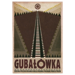 "Gubalowka, Polish Promotion Poster designed by artist Ryszard Kaja. It has now been turned into a post card size 4.75"" x 6.75"" - 12cm x 17cm."