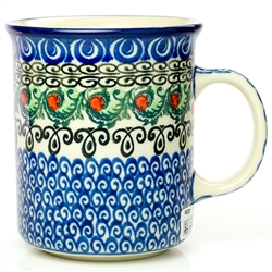 Polish Pottery Stoneware Everyday Mug 8oz.