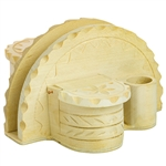 Made in Zakopane this type of four piece napkin holder is still in use in the villages and farms of southern Poland. Made of seasoned linden wood.