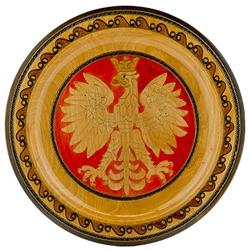 Hand Made in Southern Poland This beautiful plate is made of seasoned beech wood, from the Tatra Mountain region of Poland. The skilled artisans of this region employ centuries old traditions and meticulous craftsmanship to create a finished product of