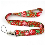 The folk lanyard is adorned with colorful flowers similar to those found on Tibetan highlander cloth. The motif is inspired by a traditional folk pattern known from the folk headscarf and the ladies' highlander attire.