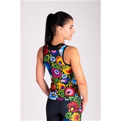 Sporty and stylish Polish folk pattern leggings and tank top fitness set.   They will be perfect for fitness, gym, jogging and other sports activities.  92% polyester, 8% elastane stretchy material.