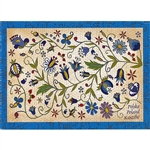 Kaszuby Motif Post Card - Kashubian Design A beautiful postcard designed By Folk Artist Miroslawa Stefaniak.