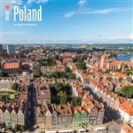 This beautiful 18 month calendar features 12 city and country scenes in full color, suitable for framing. All English language and US weekly format (Sunday is the first day of the week). Polish holidays and names days are not listed.