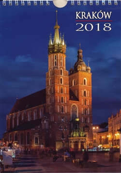 This beautiful small format spiral bound wall calendar features15 scenes from the city of Cracow. Includes all Polish holidays and names days in Polish. European layout (Monday is the first day of the week). Descriptions and days and months are displayed