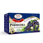 Another delightful and all-natural Polish tea. Contains black currants (58%), hibiscus flowers, elderberry, black currant leaves (2.5%), flavor.