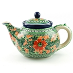 "Beautiful teapot with a 1.2 Liter (40oz) capacity (5 cups). Pattern designed by master artist Maria Iwicka. The artist has been connected with the Artistic Handicraft Cooperative ""Artistic Ceramics and Pottery"" since 1981. A pattern designer since 1993."