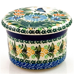 "Pattern designed and signed by master artist Krystyna Deptula. The artist has been connected with the Artistic Handicraft Cooperative ""Artistic Ceramics and Pottery"" since 1991. Since 1997 she has been a pattern designer. Unikat pattern number U2555."