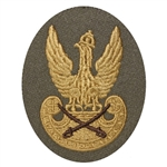 "Embroidered Polish Army Cavalry patch with a golden Polish Eagle. Sew on patch.  Size approx 3"" x 2.25.  Made In Poland."