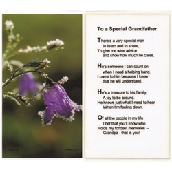 Grandfather Prayer - Holy Card.  Plastic Coated. Picture is on the front, text is on the back of the card.
