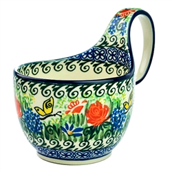 A beautiful design by master artist D. Kinga,  Hand made in Poland. SIgned by the artist. Unikat pattern U2378.