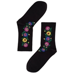 Folk is in fashion and these beautiful Polish hosiery featuring a Lowicz wycinanka folk design look really sharp.