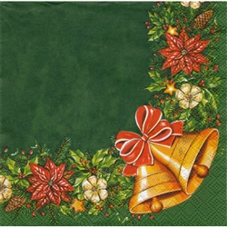 Beautiful set of 20 Christmas cocktail napkins. Made In Poland
