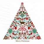 Polish Folk Art Luncheon Napkins (package of 20) featuring a folk Christmas tree. Three ply napkins with water based paints used in the printing process.