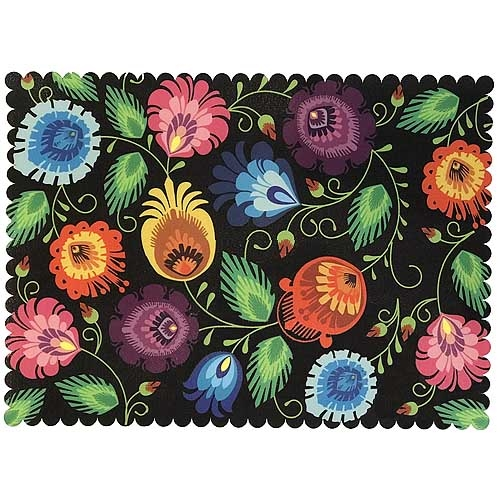 polish paper cut design deluxe placemat floral ii polish art centerdie cut with scalloped edging and plasticized on top this gorgeous cloth placemat features a beautiful