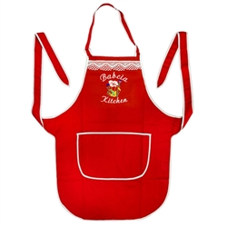 Just what every Polish babcia needs: A vibrant red apron for her kitchen.  Great gift idea and Made In Poland.
