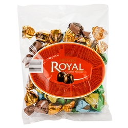It doesn't get any more Polish than these dessert chocolate pralines. Dark chocolate shells (41%) filled with 5 assorted flavors: rum, advocat, coffee and cream, coconut, whole hazelnut. Flavored with alcohol so these are not for children.