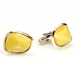 Custard Amber Cuff Links I