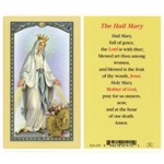 Polish Art Center - Hail Mary - Holy Card.  Plastic Coated. Picture and prayer is on the front, text is on the back of the card.